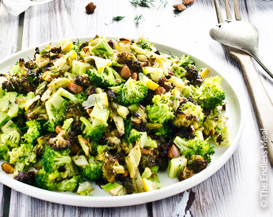 broccoli-salad-raisins-almonds